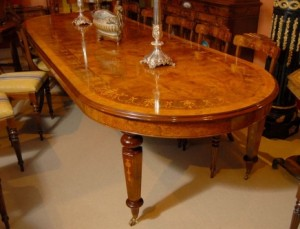 12 Foot Italian Marquetry Extending Dining Table