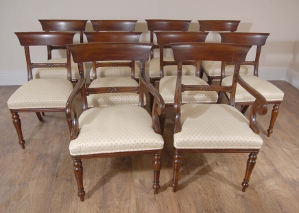 8 English Regency Trafalgar Dining Chairs