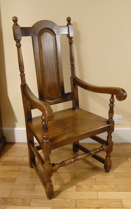 8 English Rustic William Mary Dining Chairs Gothic Farm