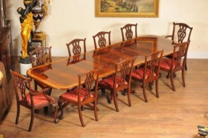 Antique Dining Set Regency Table and Chairs
