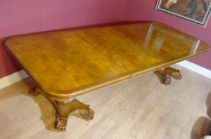 Antique Dining Table Walnut Regency