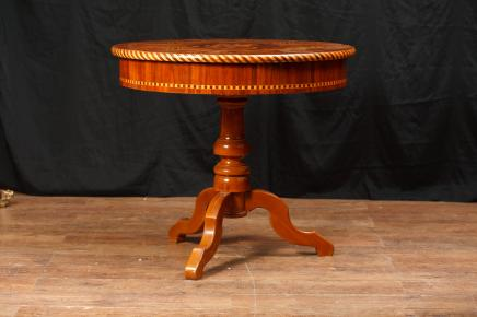 Antique Italian Sorrento Centre Table Inlay Dining Tables