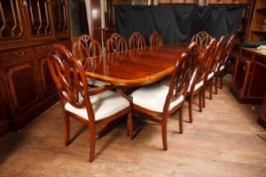 Antique Table and Chairs Regency Dining Set