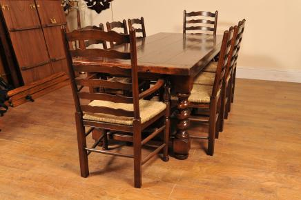 Barley Refectory Table Ladderback Chair Kitchen Set