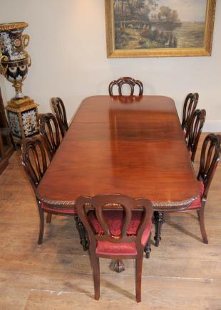 Chippendale Table & Victorian Dining Chairs Set