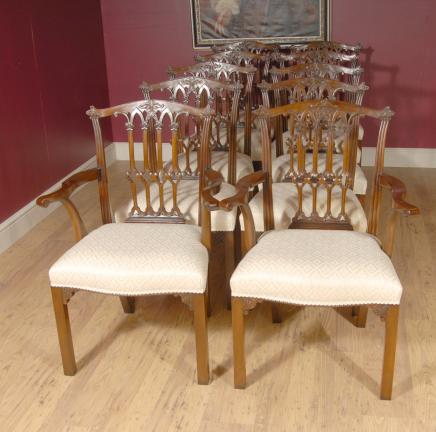 English Mahogany Victorian Dining Chairs