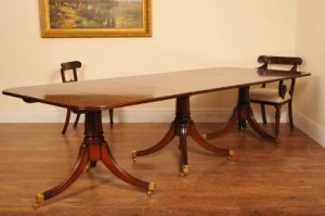 Flame Mahogany Regency Pedestal Dining Table