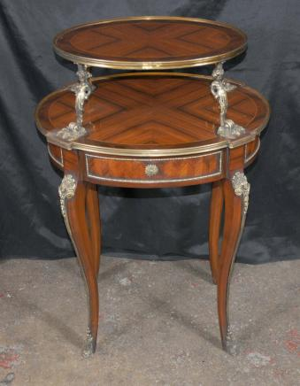 French Empire Tiered Side Centre Table Cherub