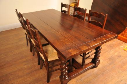 Ladderback Chairs & Refectory Table Kitchen Set Dining