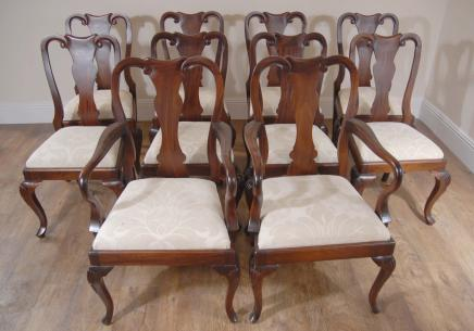 Mahogany Queen Anne Dining Chairs