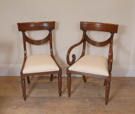 Mahogany Regency Dining Chairs