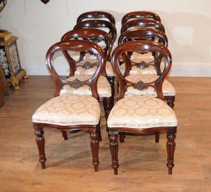 Mahogany Victorian Dining Chairs - Victorian Dining Chairs