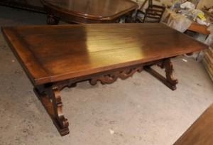 Oak Farmhouse Spanish Refectory Table Kitchen Dining Furniture