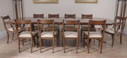 Regency Dining Set Table & Chairs Mahogany Suite