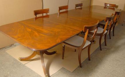 Regency Dining Set Table & Swag Chairs Suite