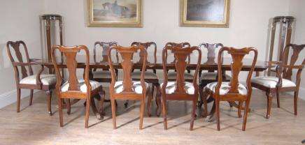 Regency Table Set Queen Anne Chairs Dining Suite