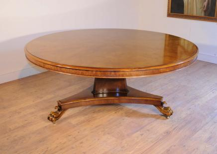 Round Pollard Oak Regency Dining Centre Table Furniture