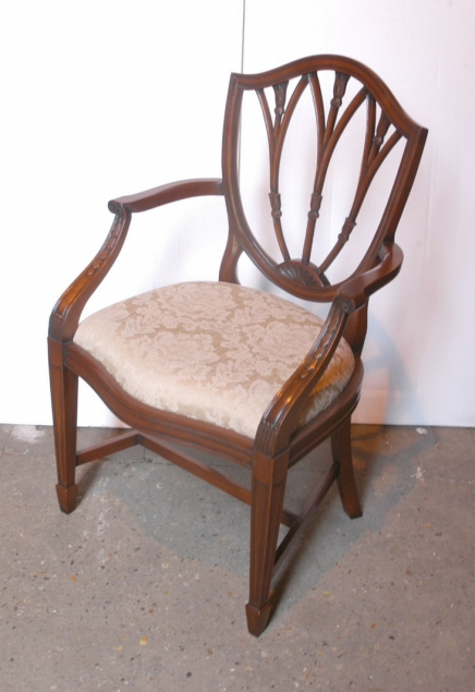 SET 10 HEPPLEWHITE ENGLISH MAHOGANY DINING CHAIRS CHAIR