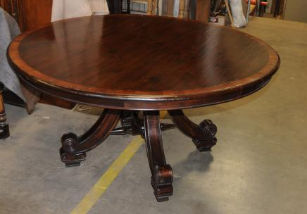 Spanish Dining Table Fruitwood With Seville Base