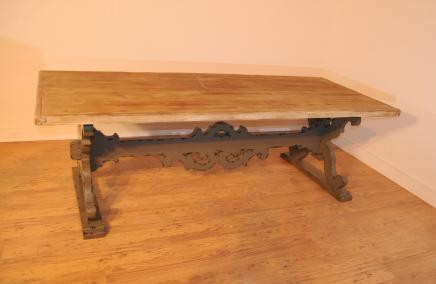 Spanish Farmhouse Trestle Refectory Table Kitchen