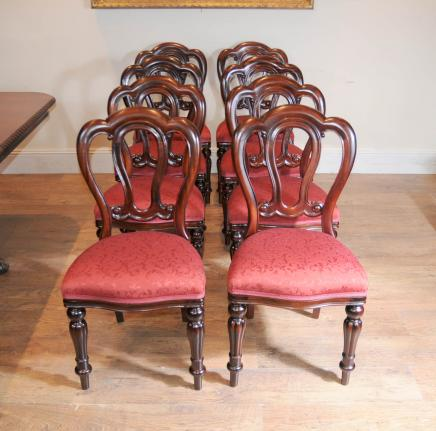 Victorian Balloon Back Admiralty Dining Chairs