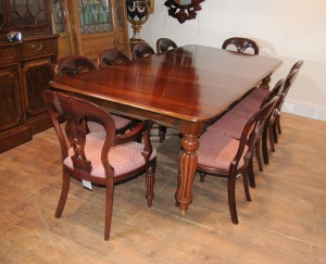 Victorian Dining Room Table and Chairs