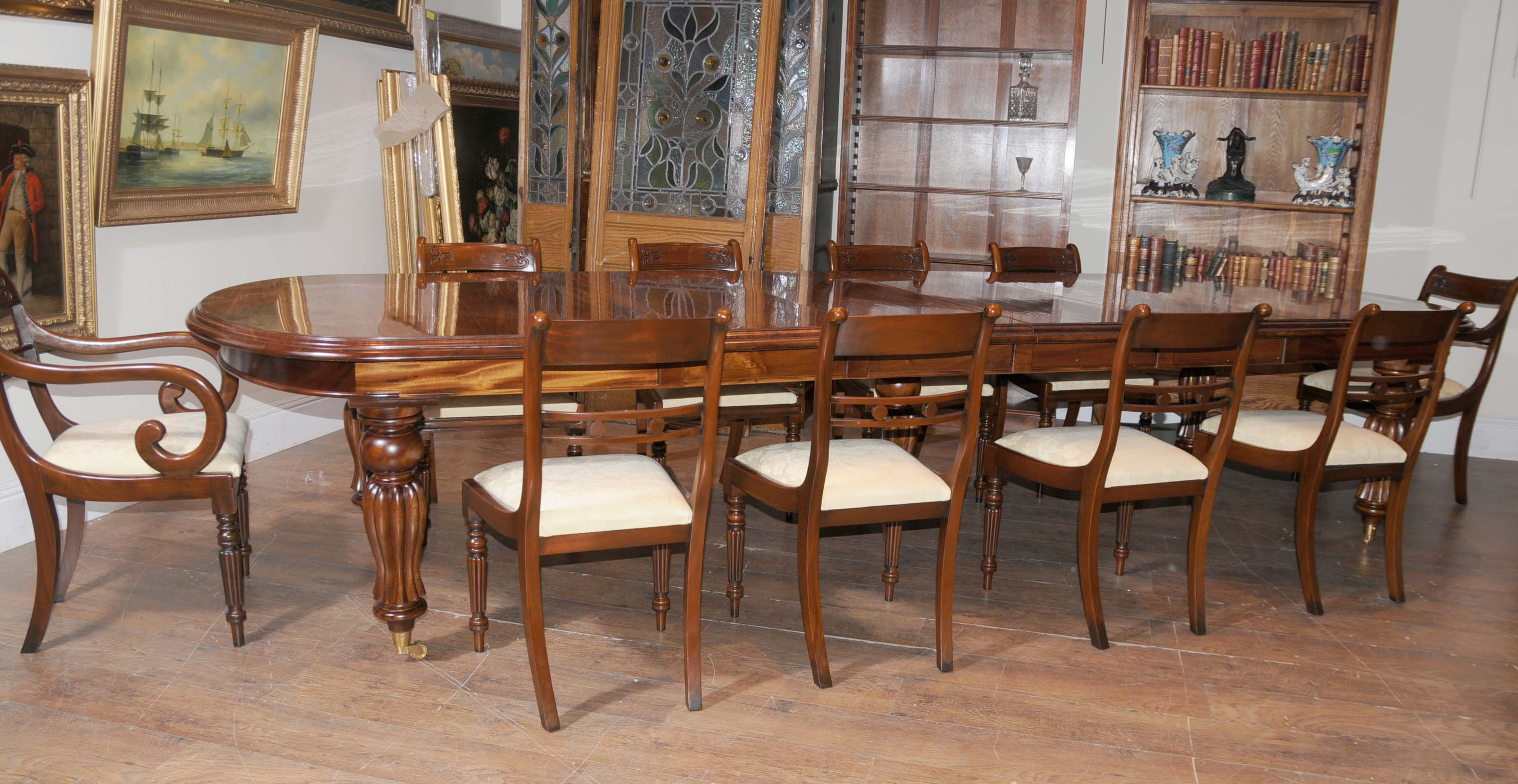 Inspirational victorian oak dining room chairs light of for Antique dining room sets