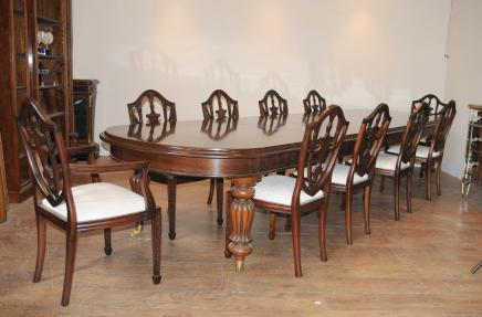 Victorian Dining Table Set 10 Federal Chairs Suite