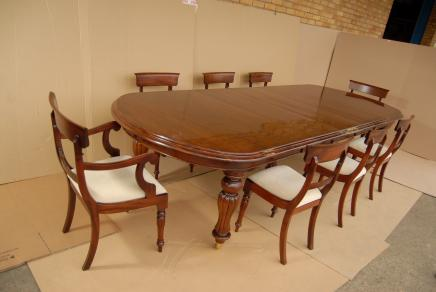 Victorian Dining Table Set William IV Chairs Suite