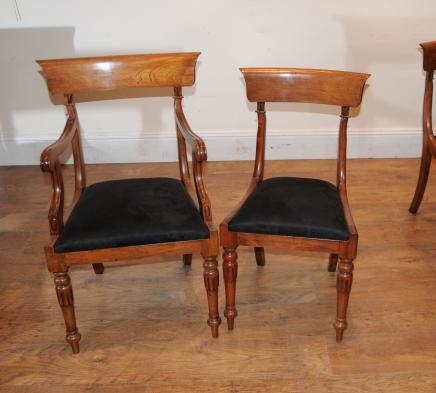 Walnut Regency Dining Chairs