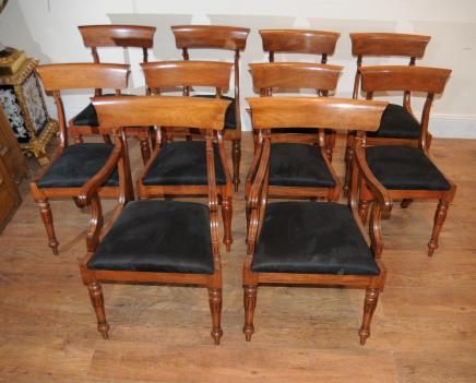 Dining Room on Walnut Regency Dining Chairs
