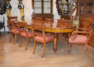 Walnut Victorian Table and Chairs