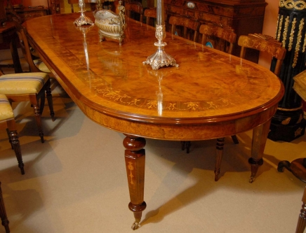 12 Foot Italian Marquetry Extending Dining Table. marquetry dining table   Antique Dining Room