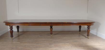 14 ft English Victorian Extending Mahogany Dining Table Tables