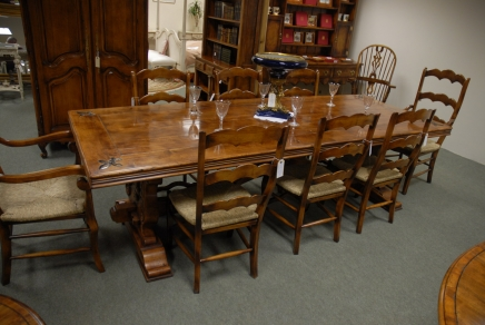 9 ft french fleur de lys oak kitchen table antique for 9 foot dining room table