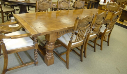 Chunky Abbey Farmhouse Refectory Table Oak Rustic Tables