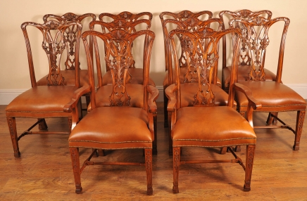 English Chippendale Mahogany Dining Chairs