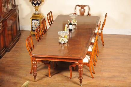 Victorian walnut dining table diner 10 ft english for 10 ft dining room table