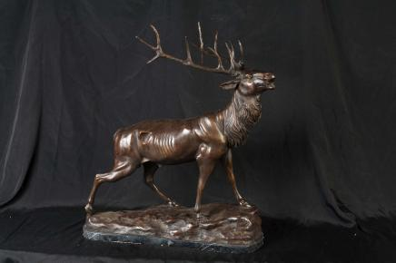 Bronze Scottish Stag Sculpture Moose Caribou Deer Animal Art