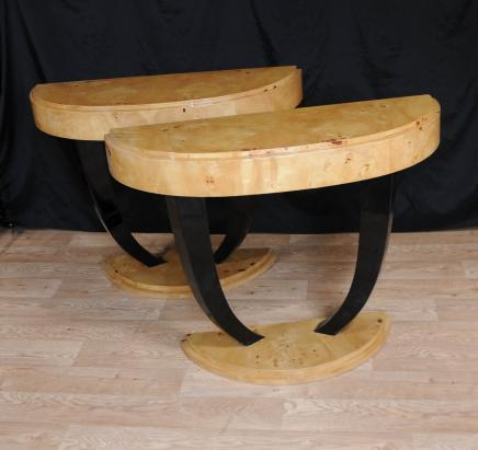 Pair Art Deco Hall Tables Console Table Modernist 1920s Interiors