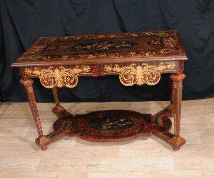 Italian Marquetry Inlay Console Table Hall Tables Tuscan Furniture
