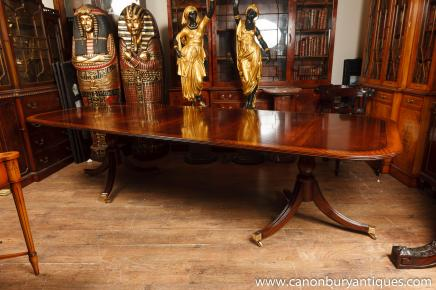antique dining room sets. Two Pedestal Regency Dining Table Mahogany With Leaves November 2012 Archives  Antique Room
