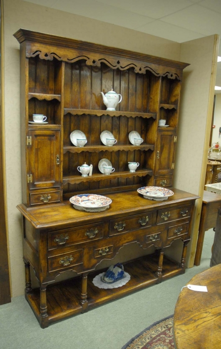 Farmhouse Oak Welsh Dresser Cupboard Kitchen Rack