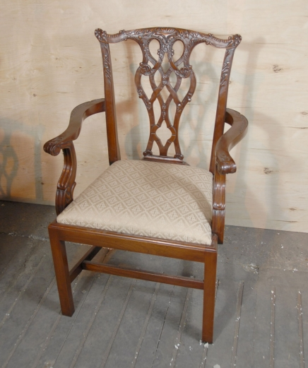 8 English Chippendale Dining Chairs