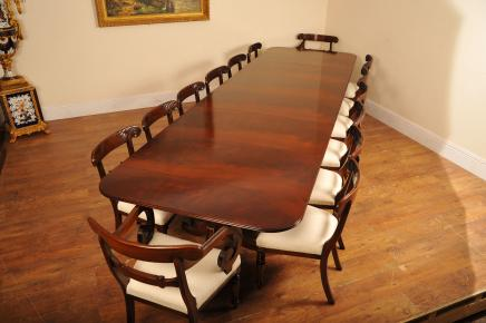 set of 12 antique dining room chairs. regency pedestal dining table \u0026 chairs set suite diner of 12 antique room