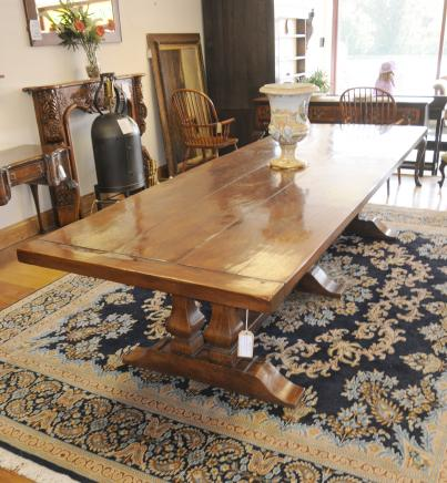 Norfolk Farmhouse Refectory Trestle Table Bench Set