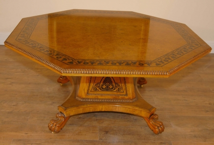 George Bullock Regency Dining Table Walnut Inlay