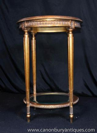 French Empire Gilt Side Table Occassional Tables