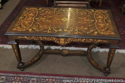 Italian Marquetry Coffee Table Coctail Tables