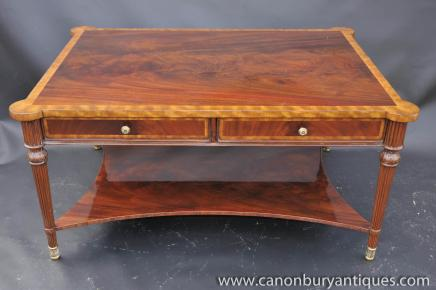 Regency Coffee Table Flame Mahogany Tables English Furniture